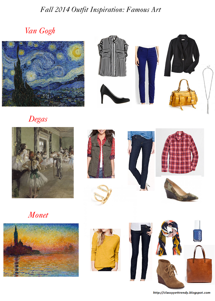 Fall 2014 Outfit Inspiration: Famous Art