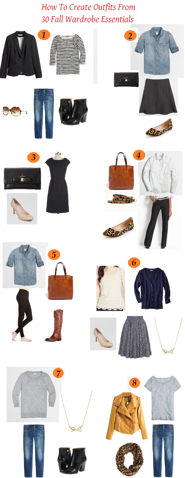 Part 2: How to Create Outfits from 30 Fall Wardrobe Essentials