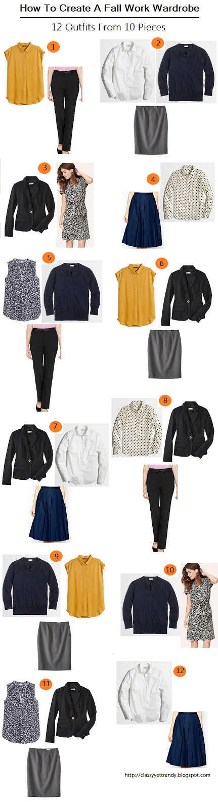 How to Create A Fall Wardrobe Part II: 12 Outfits From 10 Pieces