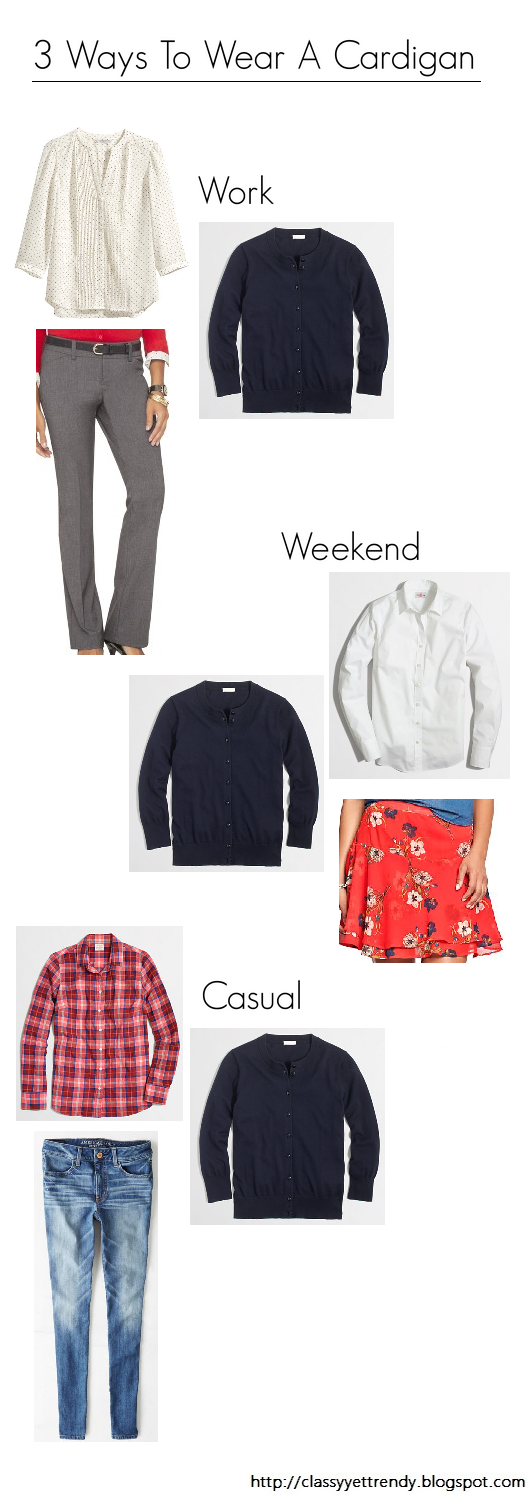 3 Ways To Wear A Cardigan