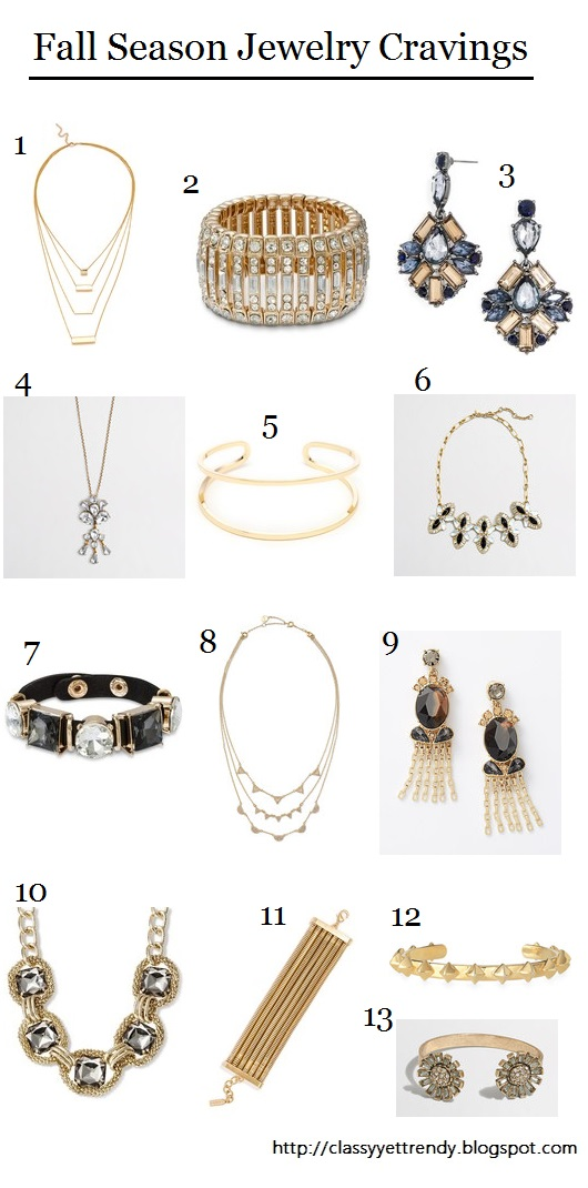 Fall Season Jewelry Cravings