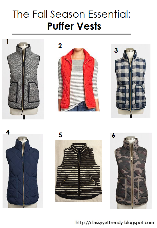 The Fall Season Essential: Puffer Vests