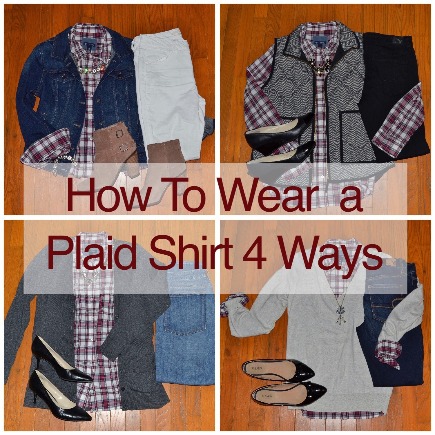 How To Wear A Plaid Shirt 4 Ways