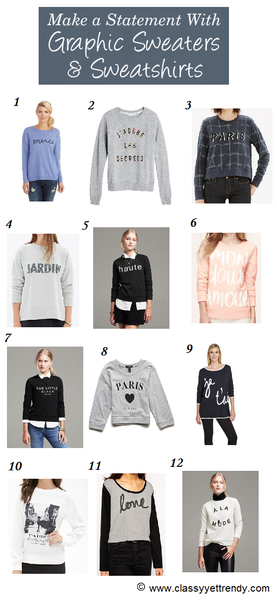 Make a Statement! (with Graphic Sweaters & Sweatshirts)