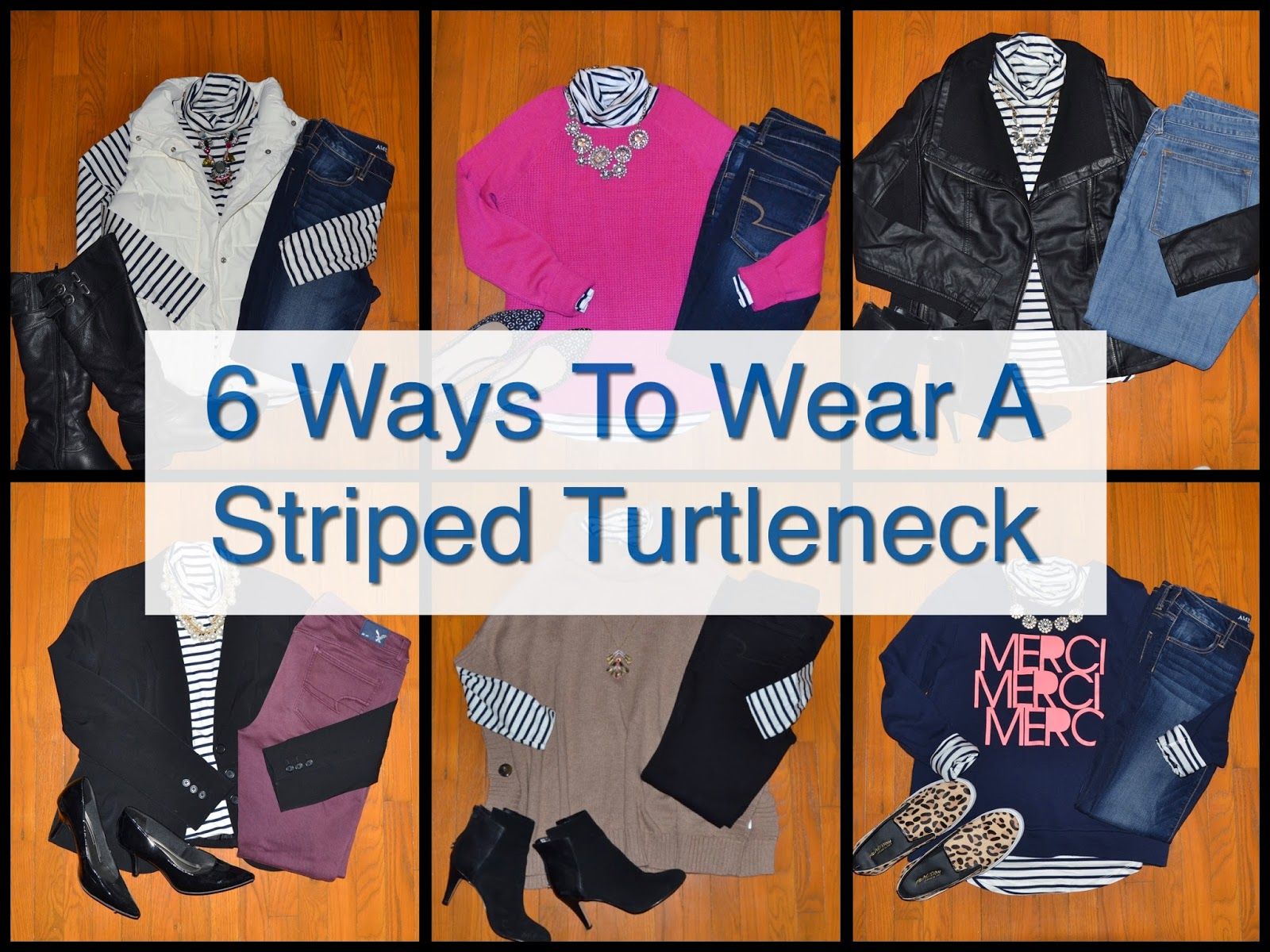 How To Wear: 6 Ways To Wear a Striped Turtleneck
