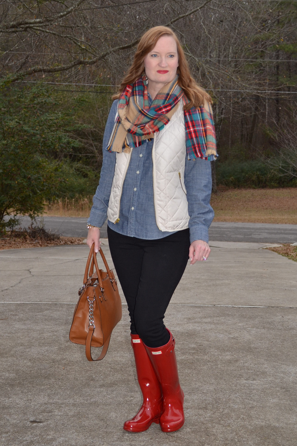 Trendy Wednesday Link Up #4: Blanket Scarf & Red Boots