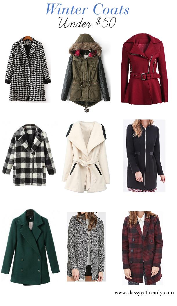 Winter Coats Under $50