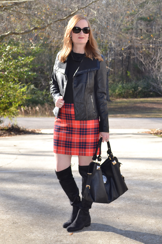 Trendy Wednesday Link Up #2: Plaid and OTK Boots