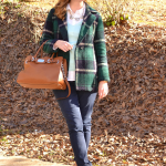 Plaid Coat, Mint & Camel