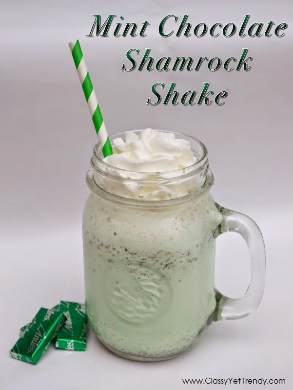Mix It Up Friday Link Up #3: Mint Chocolate Shamrock Shake