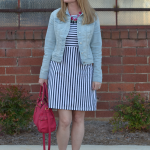 Trendy Wednesday Link Up #17: Stripes, Denim & Statement Necklace