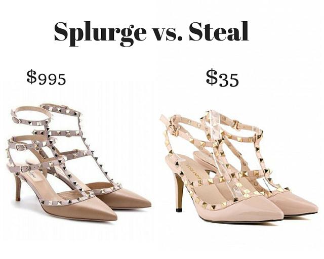 Trendy Wednesday Link-up #33: Splurge vs. Steal – Valentino heels