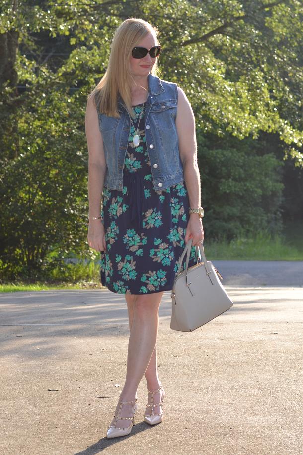 Trendy Wednesday Link-up #32: Dress, Vest & Rivets