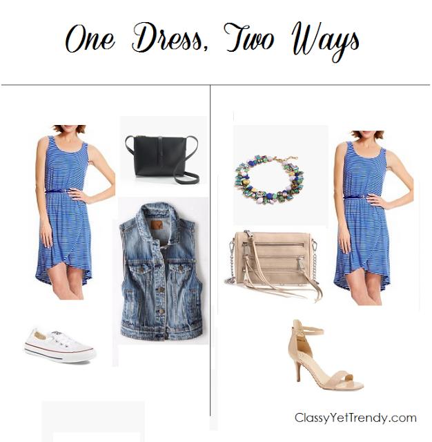 Trendy Wednesday Linkup #34: One Dress, Two Ways