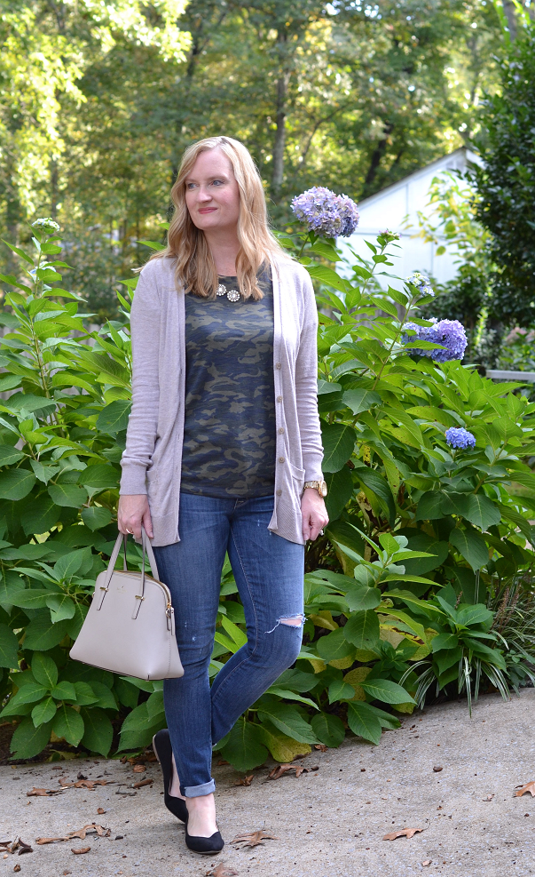 Trendy Wednesday Link-up #43: Casual Camo & My Boston Terrier