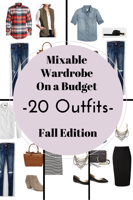 mixable wardrobe 20 outfits fall edition