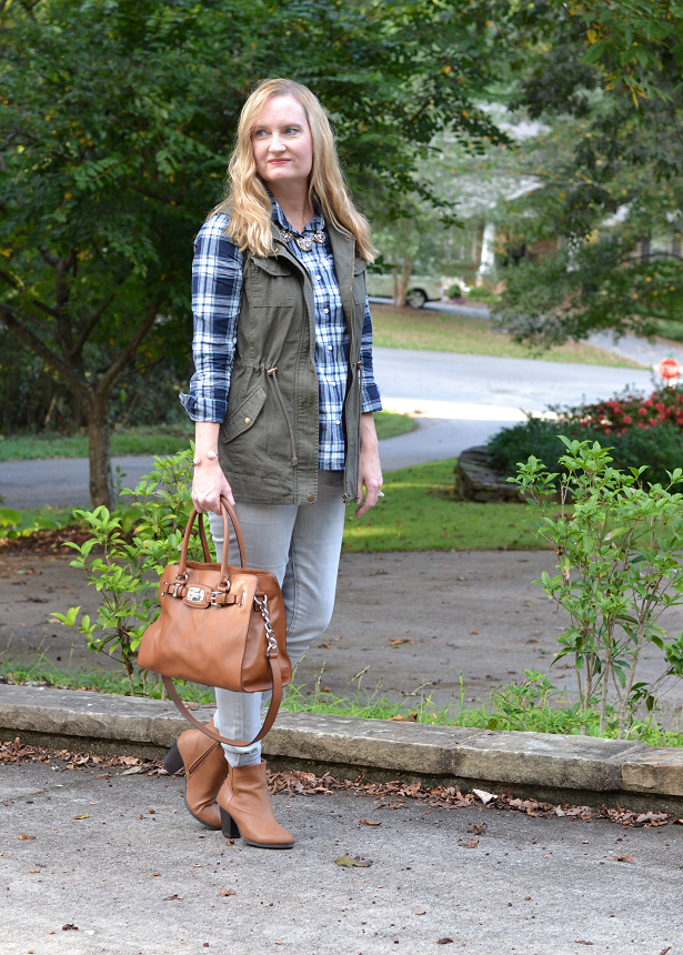 Trendy Wednesday Link-up #42: Plaid and A New Utility Vest