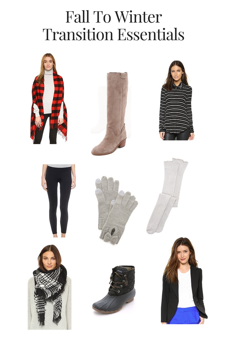 Fall To Winter Transition Essentials