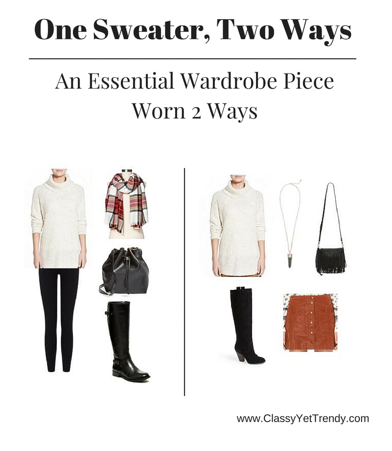 One Sweater Two Ways