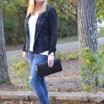 Trendy Wednesday Link-up #48: Moto Jacket and Leopard Heels
