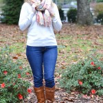 Trendy Wednesday Link-up #47: Plaid Blanket Scarf