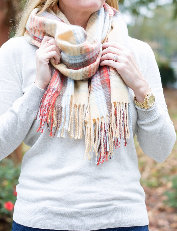 plaid blanket scarf 4