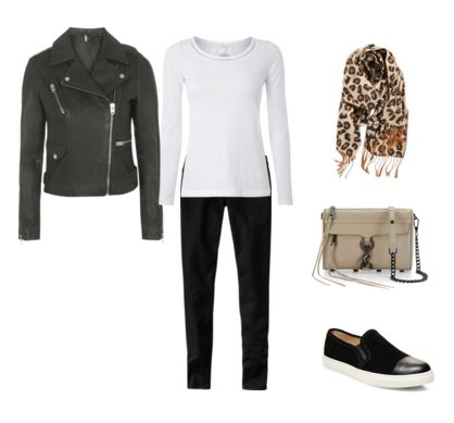 23 leather jacket - white tee - black jeans