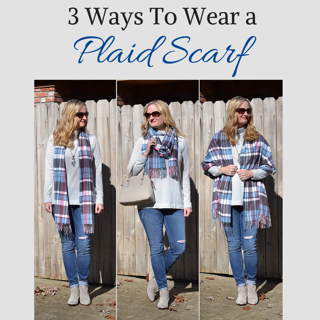 3 Ways To Wear a Plaid Scarf (Trendy Wednesday Link-up #51)