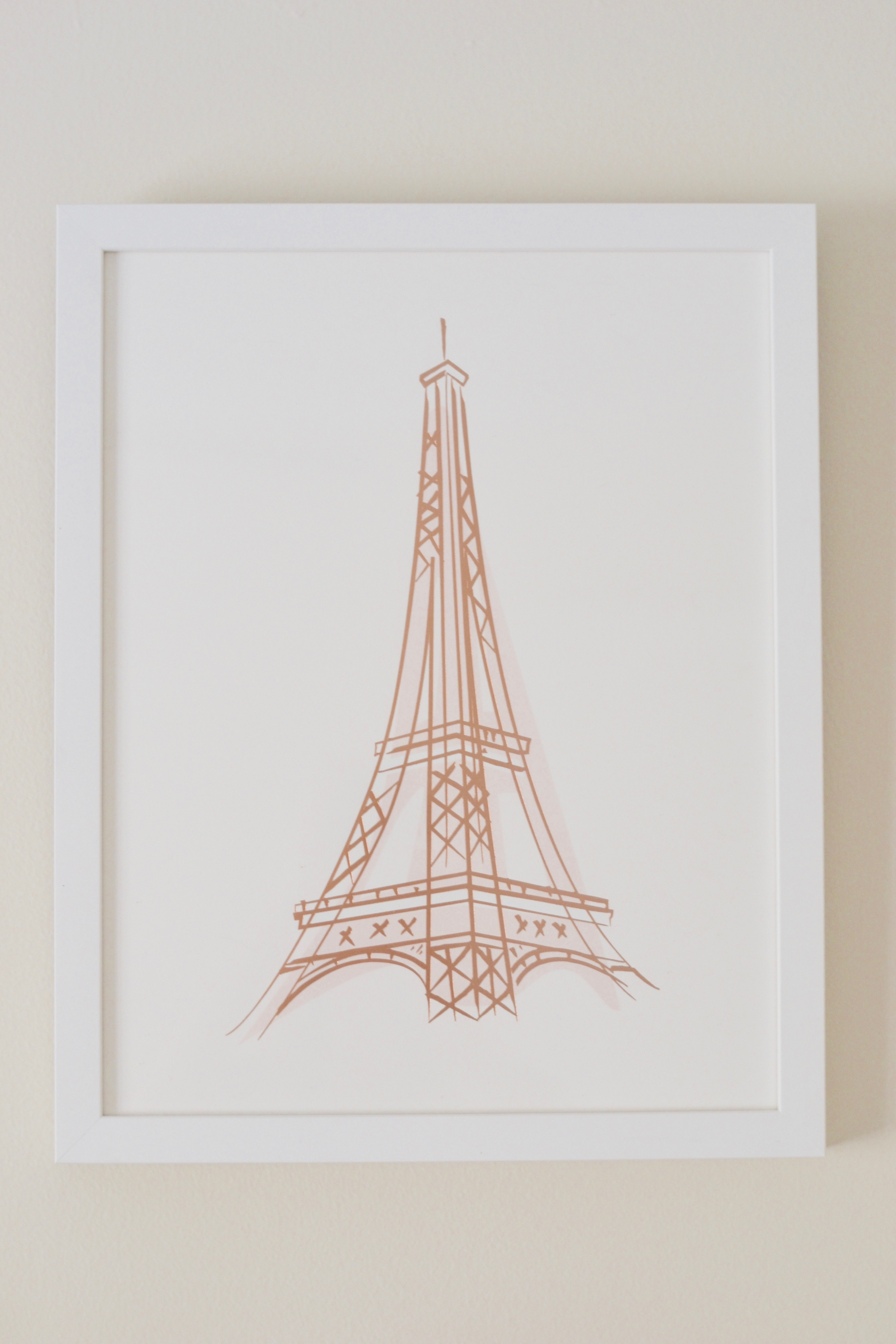 Minted Eiffel Tower framed print