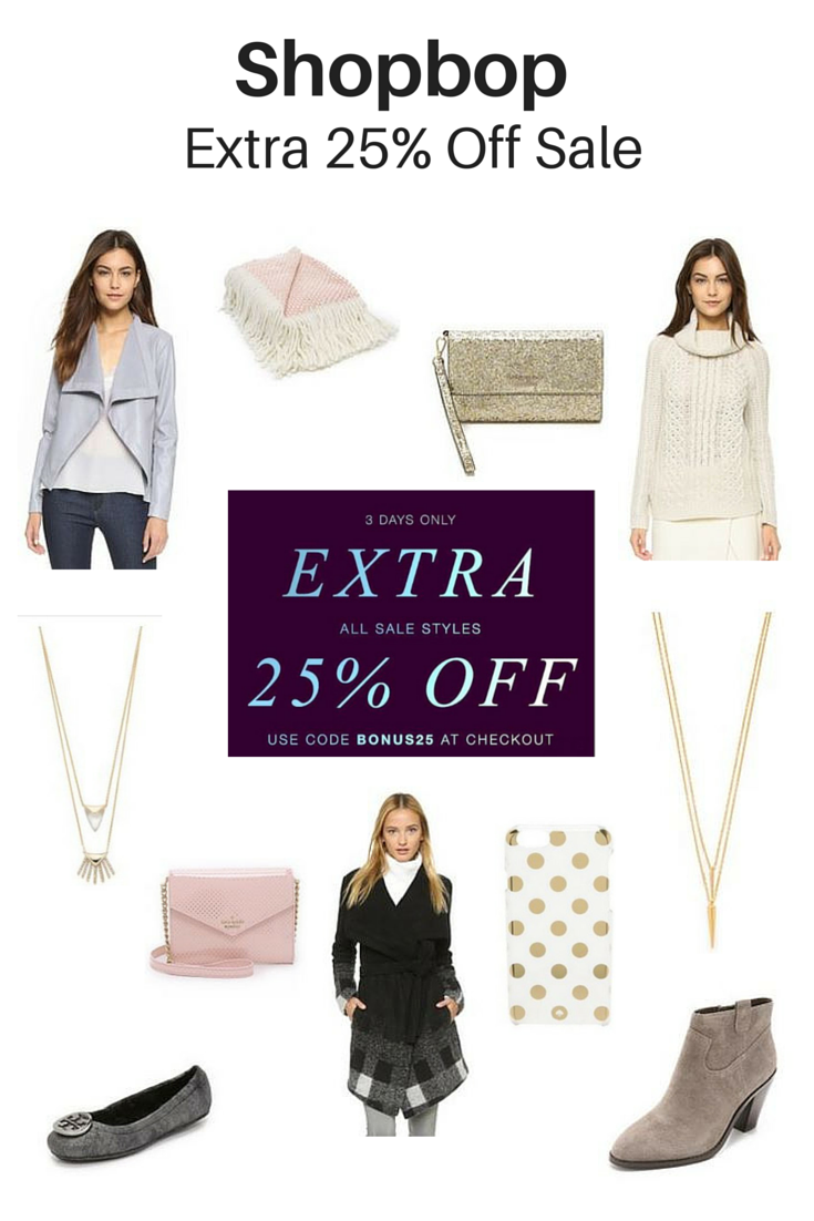 Shopbop Extra 25% off sale