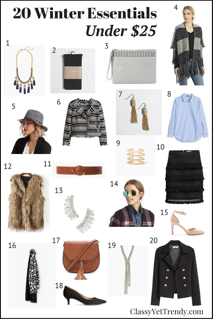 20 Winter Wardrobe Essentials Under $25