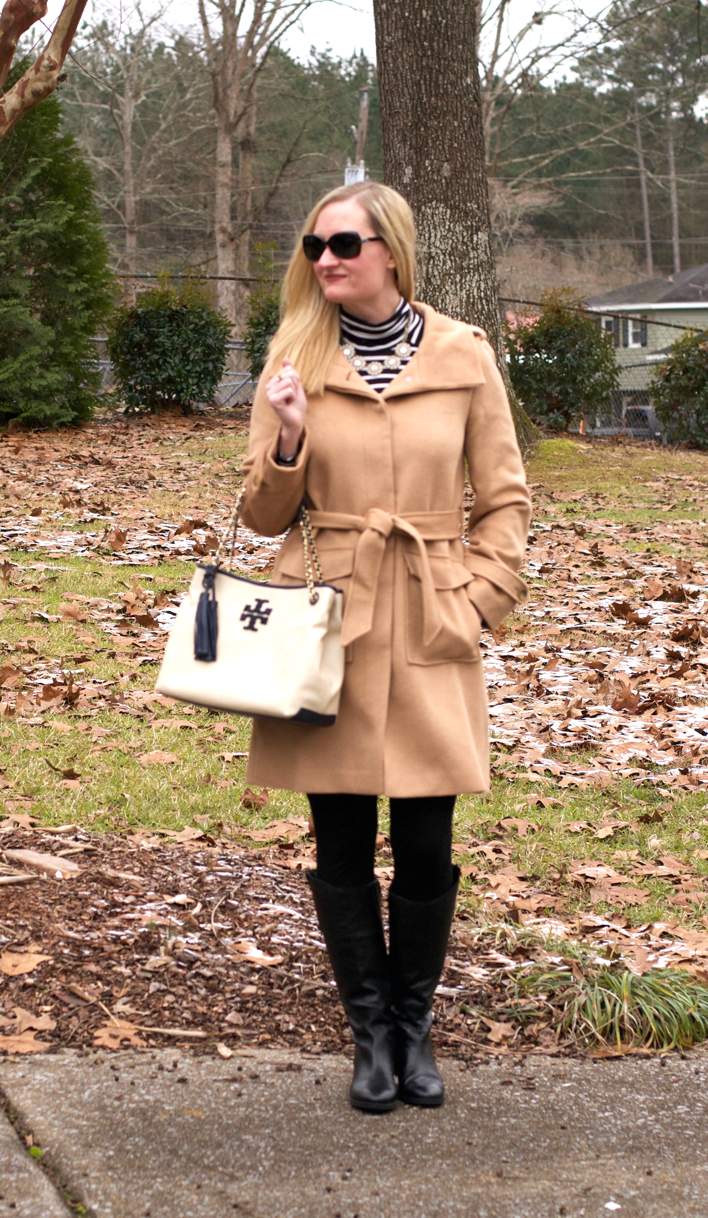 Black, white & camel - Outfit #23 from The Essential Capsule Wardrobe e-Book