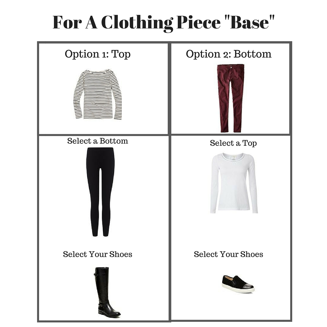clothing piece base outfit ideas