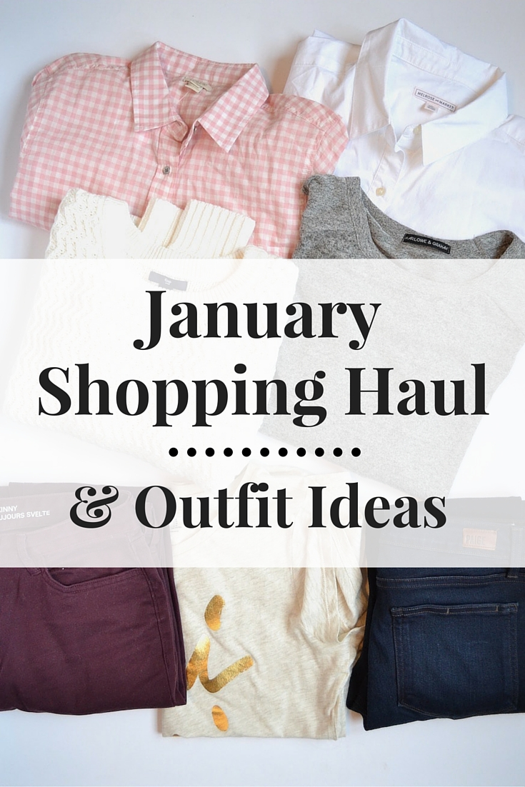 january shopping haul and outfit ideas