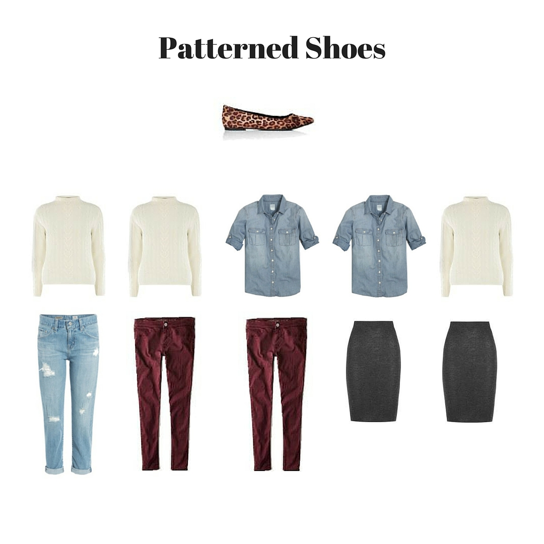 patterned shoes outfits guide