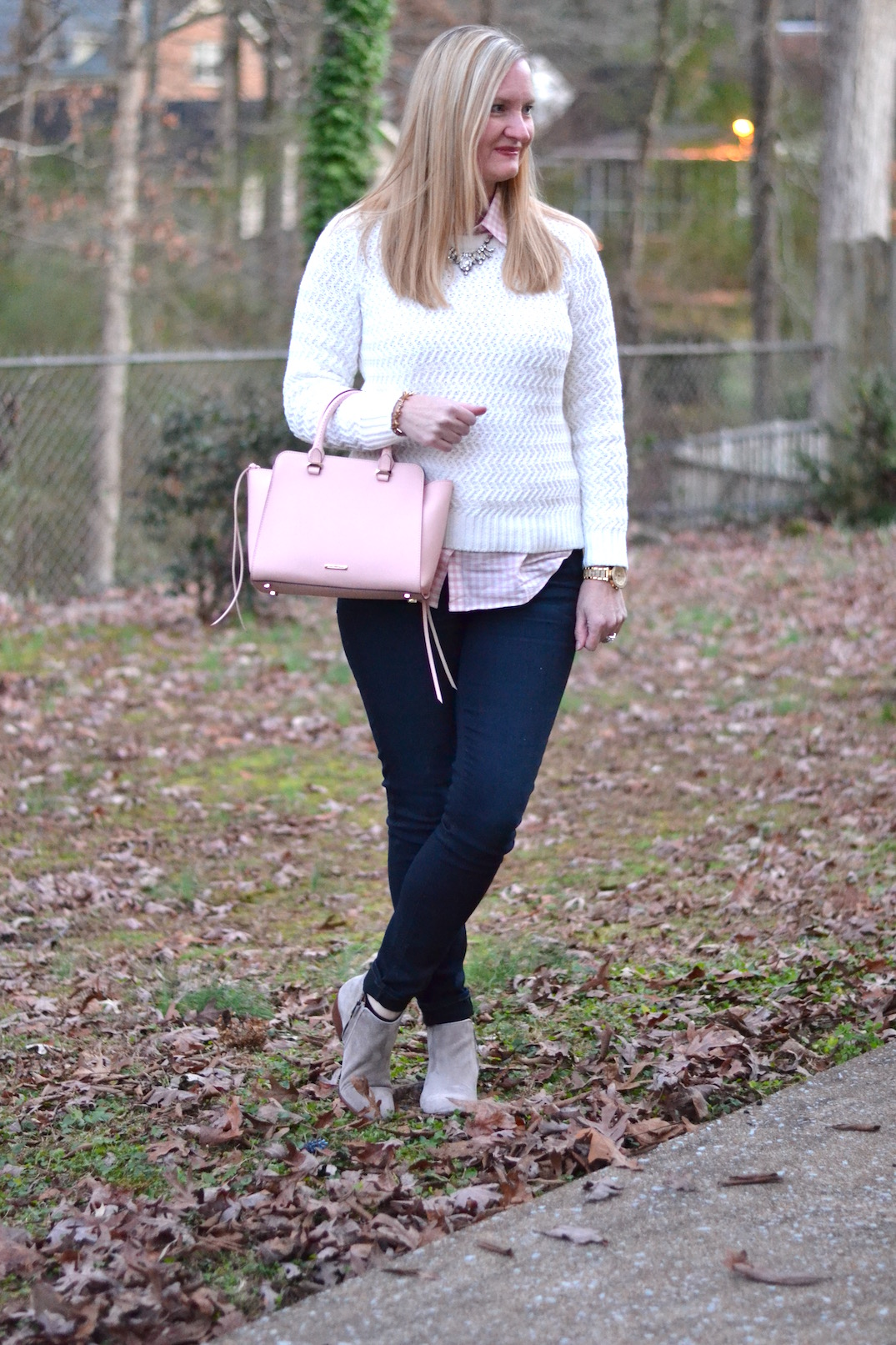 Preppy Pink Gingham Trendy Wednesday Link Up 55
