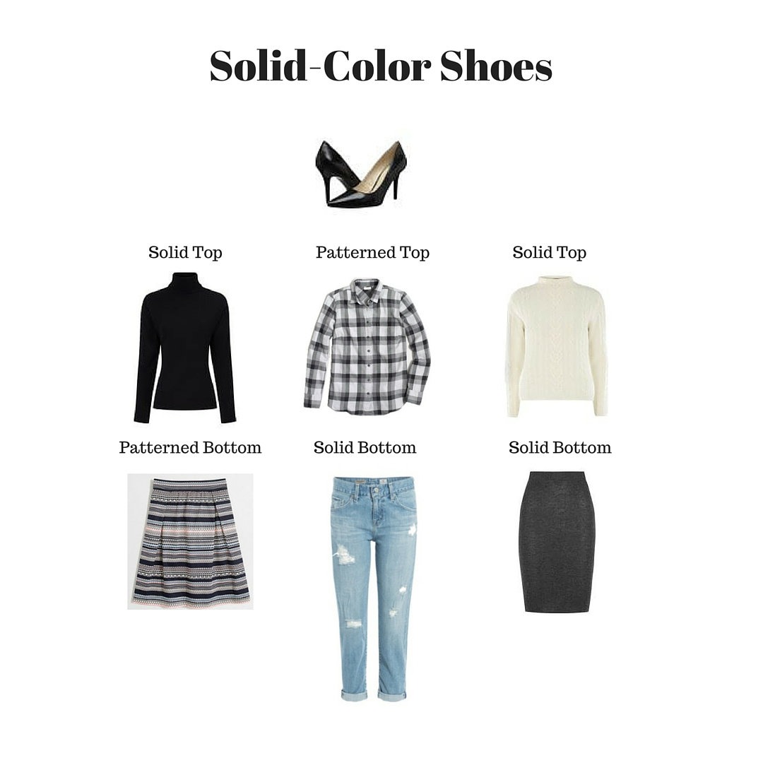 solid color shoes outfit ideas