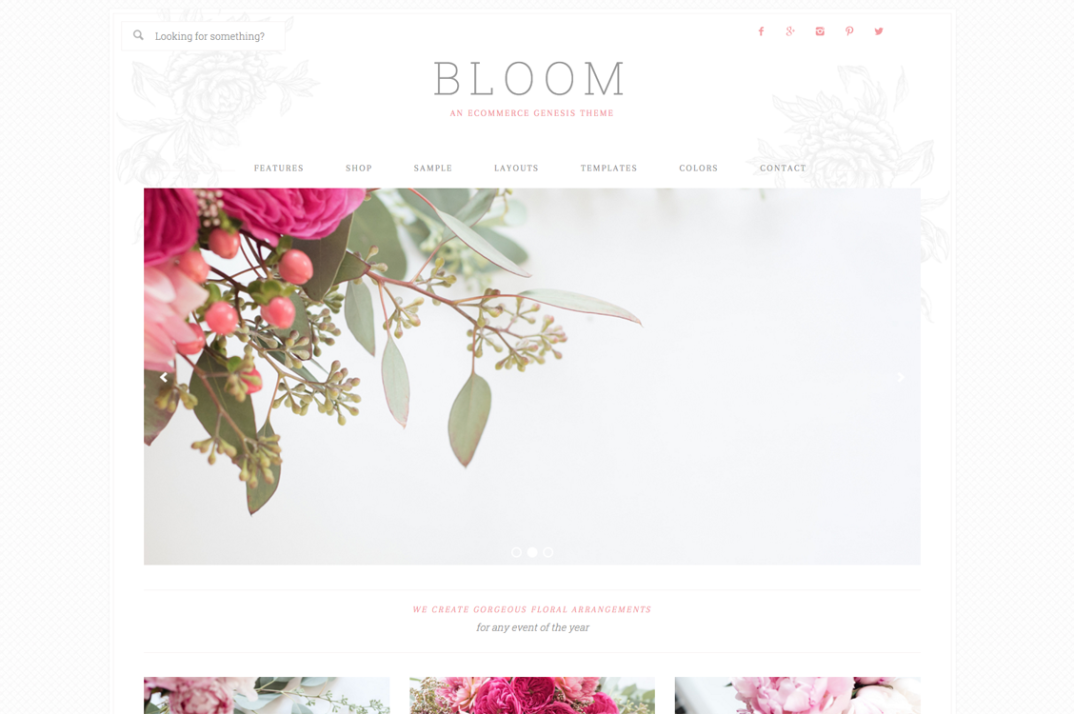 Bloom WordPress blog theme