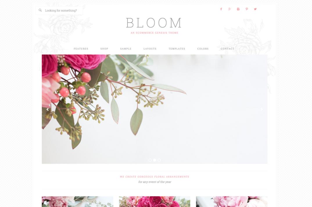 Bloom WordPress blog theme