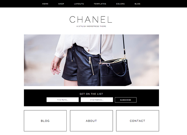 Chanel WordPress blog theme