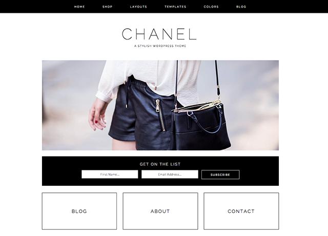 Chanel WordPress blog theme