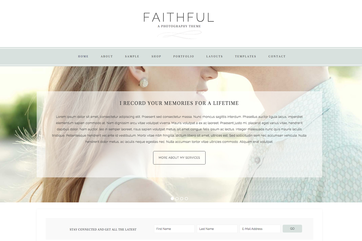 Faithful WordPress blog theme