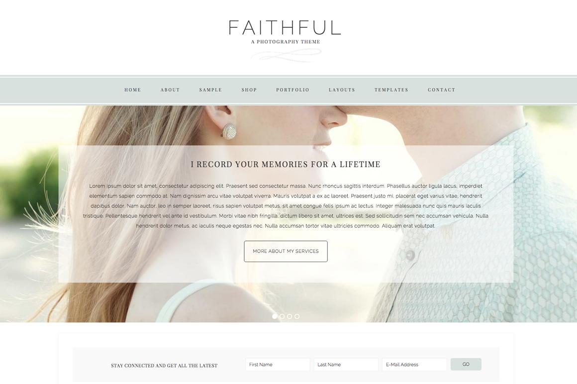 Faithful WordPress blog theme
