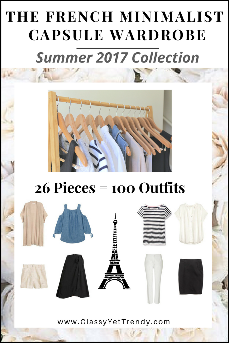 French Minimalist Summer Capsule Wardrobe 2017 e-Book