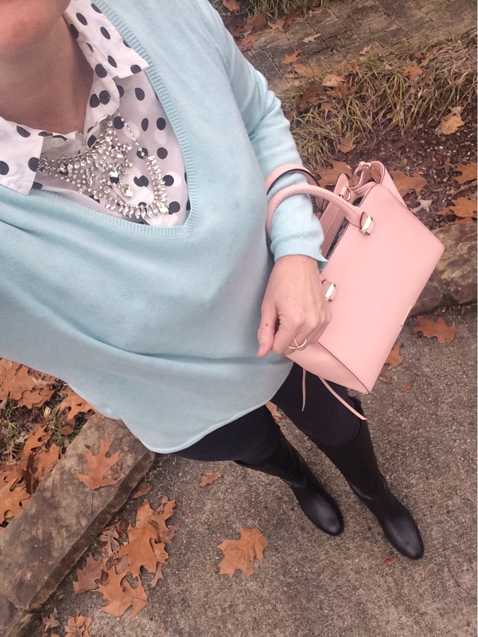 edac88d01 ... (in a set of 4 necklaces and a pair of earrings for under  50!) cross  ring (other rings) c o Jeulia Rebecca Minkoff pink handbags · Sam Edelman  boots
