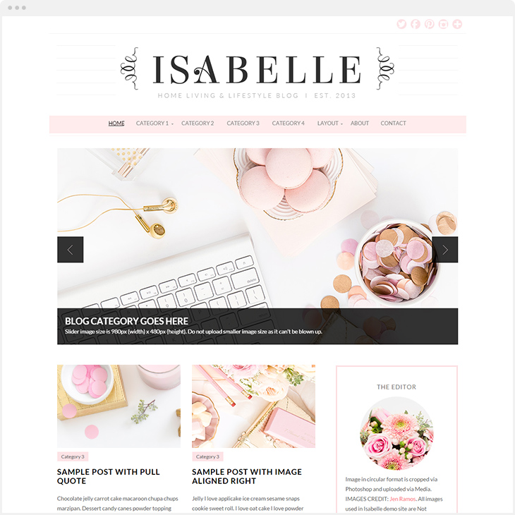 Isabelle WordPress blog theme