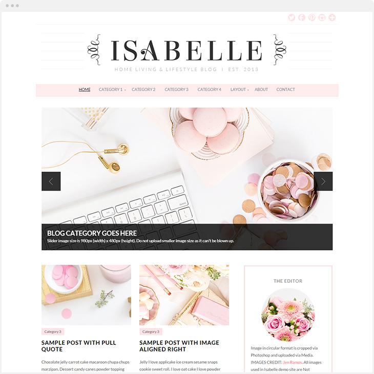 Isabelle WordPress blog theme