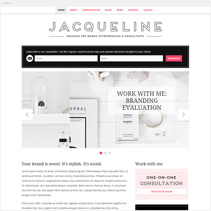 Jacqueline WordPress blog theme