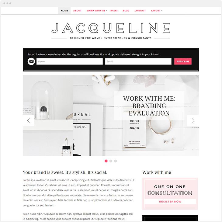 Jacqueline WordPress blog theme