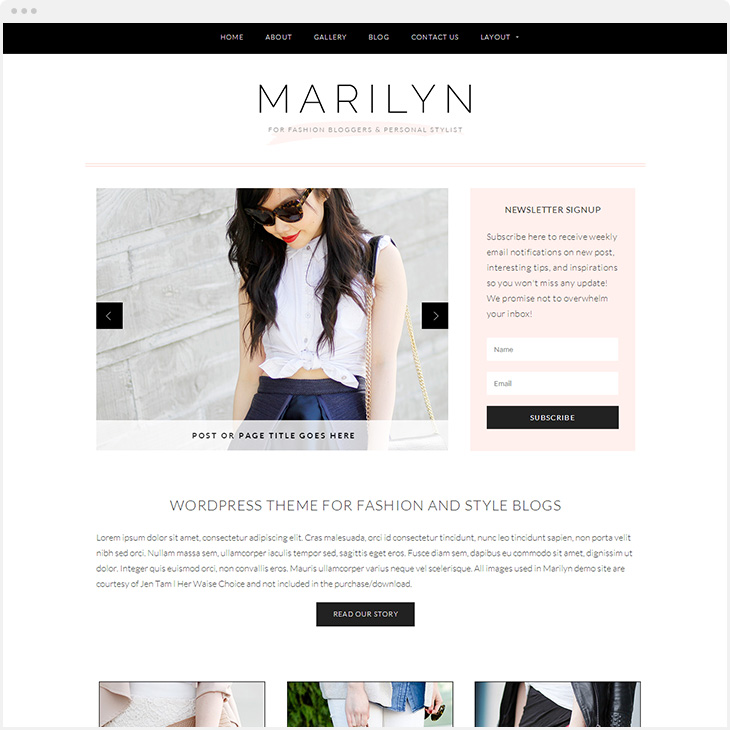 Marilyn WordPress blog theme